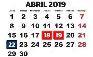 Cuándo cae la Semana Santa 2019: los días festivos en el calendario laboral