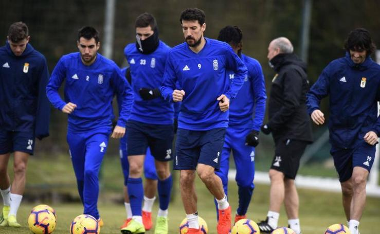 Entrenamiento del Real Oviedo (18-01-2019)