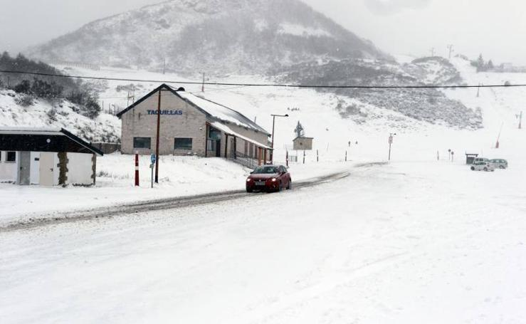 Llega la nieve a Asturias