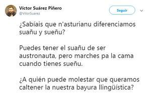 El 'tuit' en asturiano que llama la atención más allá de Pajares