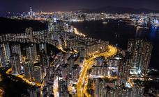 Hong Kong visto desde el aire