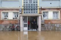 Las lluvias provocan inundaciones en Trubia y cortan carreteras