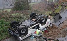 El azote del temporal deja cuatro muertos en Mieres, Laviana, Salas y Tineo