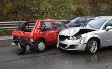 Accidente múltiple en la ronda exterior de Oviedo