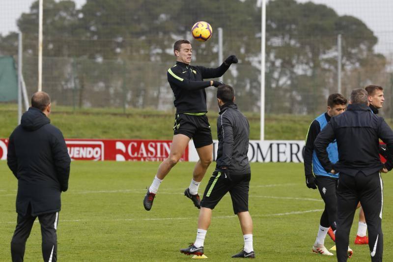 Entrenamiento del Sporting (28/01/19)