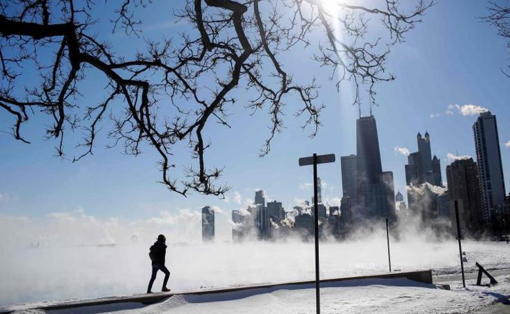 Una helada brutal congela Chicago