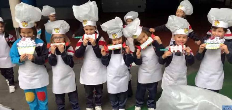 El colegio Virgen Reina de Gijón celebra el Día de la Paz con cuatro estrellas Michelín