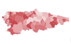 Solo seis municipios asturianos incrementaron su población en el último año