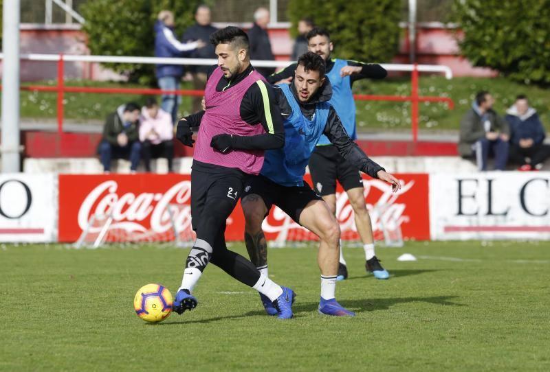 Entrenamiento del Sporting (30/01/2019)