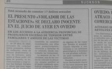El borrado de antecedentes permite al 'violador de la Feve' trabajar en Empresa Municipal de limpieza de Gijón