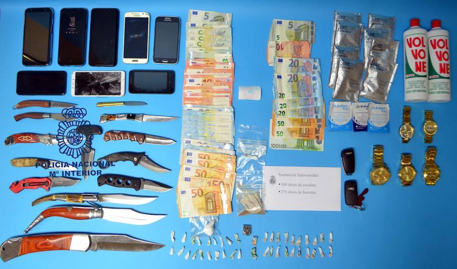 La Policía Nacional desarticula un punto de venta de droga en Avilés