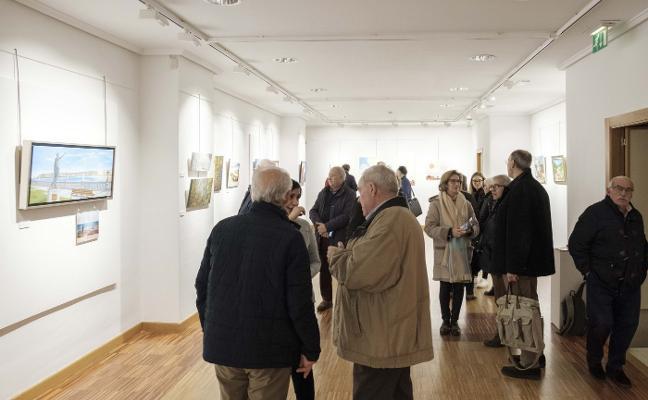 La exposición de pintura del Grupo Covadonga cumple una década
