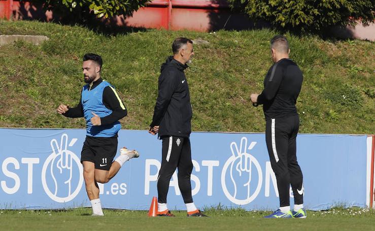 Entrenamiento del Sporting (05-02-2019)