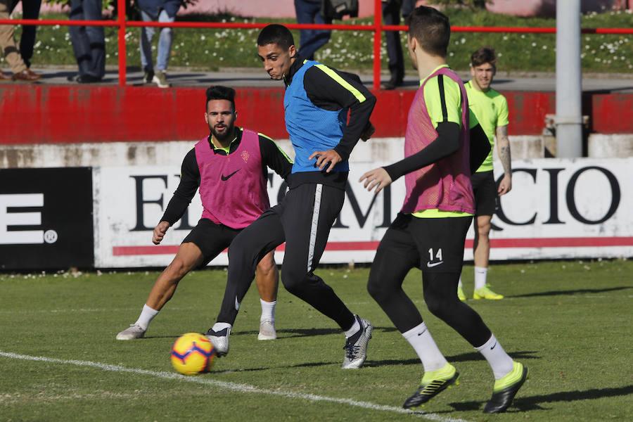 Entrenamiento del Sporting (06/02/19)
