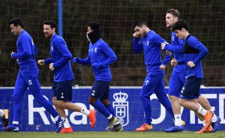 Entrenamiento del Real Oviedo (07-02-2019)