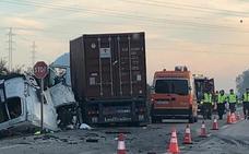 Mueren cinco trabajadores en Sevilla al chocar su furgoneta contra un camión