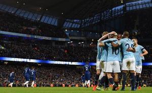 El City golea 6-0 al Chelsea, con triplete de Agüero