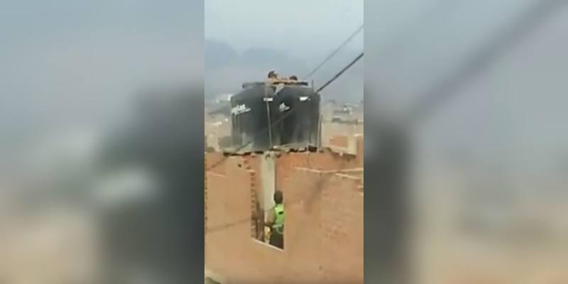 Detienen en Perú a una madre que castigó a sus hijas encerrándolas en un tanque de agua