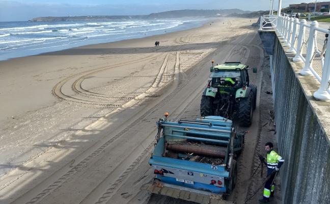 Limpieza invernal en la playas