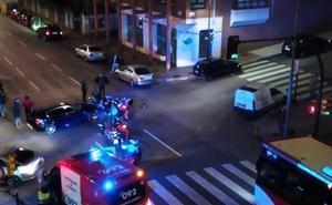 Un motorista herido en una colisión en la avenida de Pablo Iglesias de Gijón
