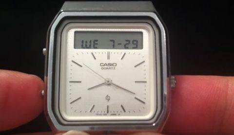 ¿Sabías que un reloj Casio de 1984 tenía ya controles táctiles?