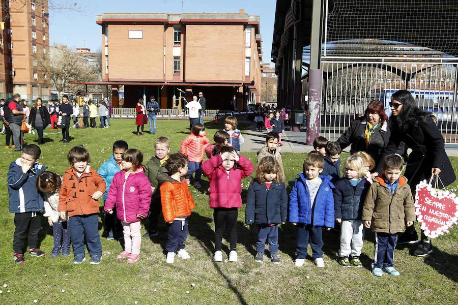 Homenaje al pequeño Thiago en el colegio Atalía de Gijón