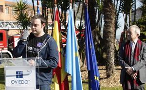 El duro discurso del hijo de Eloy Palacio ante el alcalde de Oviedo