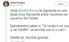 La RAE despeja las dudas sobre cómo se escribe 'Te invito a mi casa a ver Netflix'