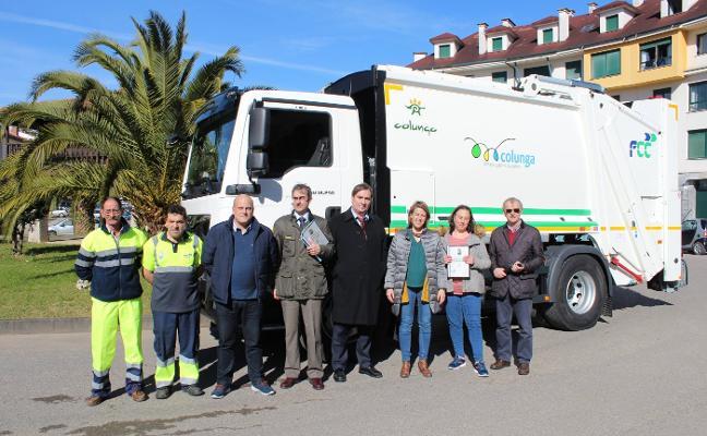 Colunga estrena camión de la basura