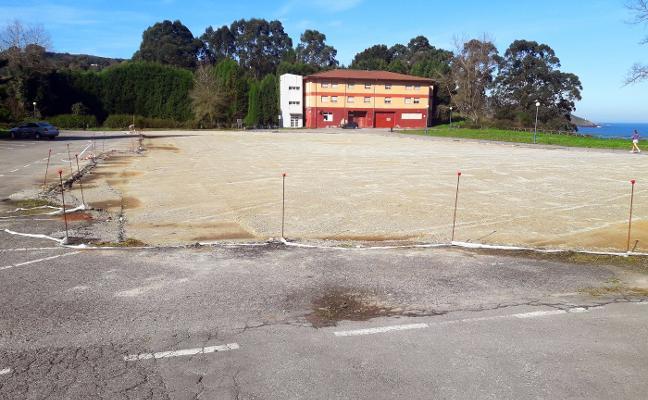 Paralizadas las obras del aparcamiento de la Ciudad de Vacaciones