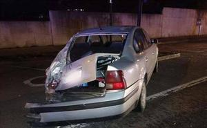 Herido leve un conductor en un accidente múltiple en Oviedo