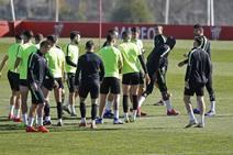 Entrenamiento del Sporting (15-02)