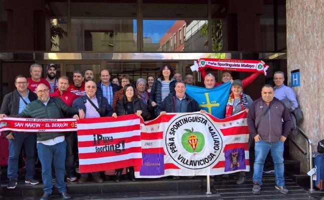 Las peñas Maliayo y San Martín ya esperan al Sporting en Las Palmas