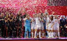 La selección española logra el primer título europeo de fútbol sala femenino de la historia