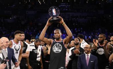 El equipo de LeBron remonta y gana el All Star con Durant como MVP