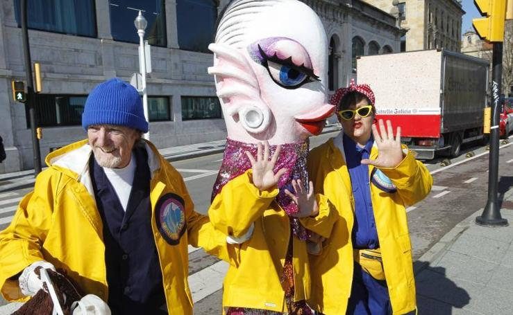 Kim 'Sardaxian', la sardina del Antroxu ya está en Gijón