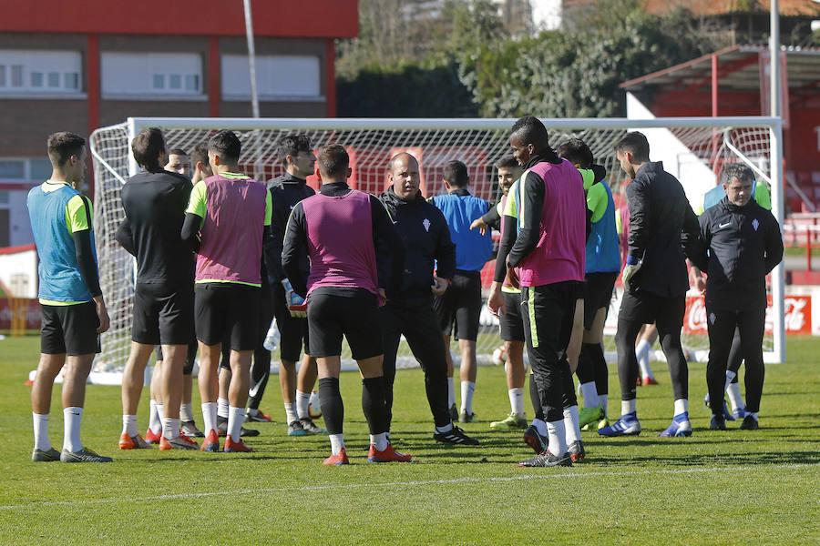 Entrenamiento del Sporting (20-02-2019)