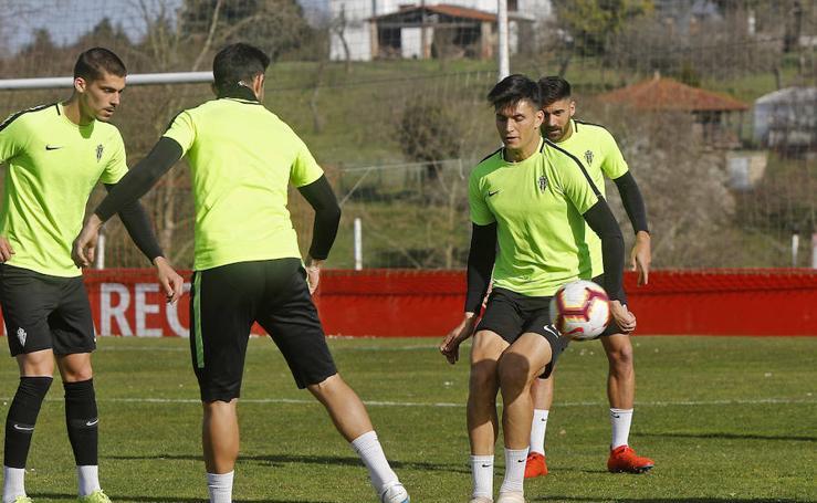 Entrenamiento del Sporting (22-02-2019)