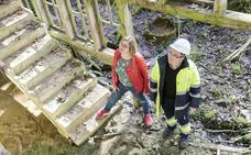 Los trabajos del bosque de La Zoreda en Oviedo descubren importantes vestigios industriales