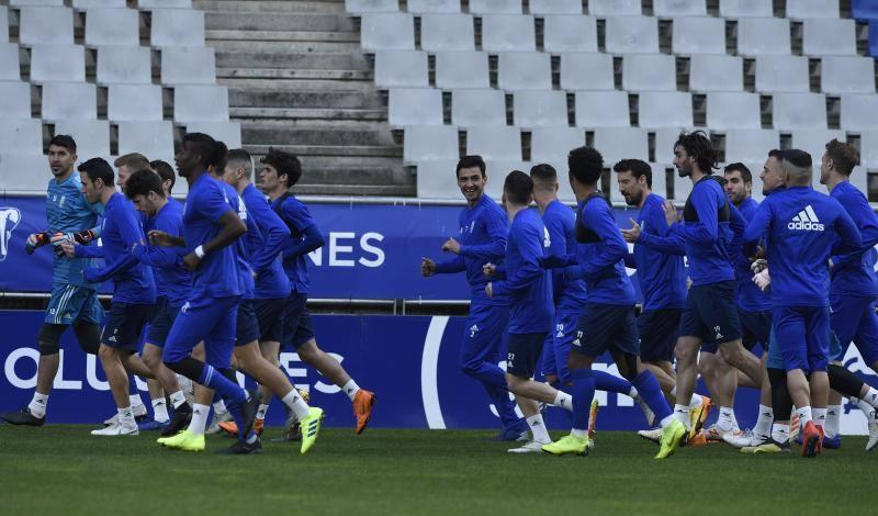 Entrenamiento del Real Oviedo (22/02/2019)