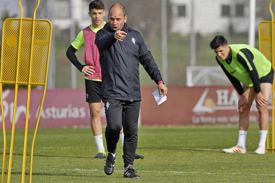 Entrenamiento del Sporting (23/02/2019)