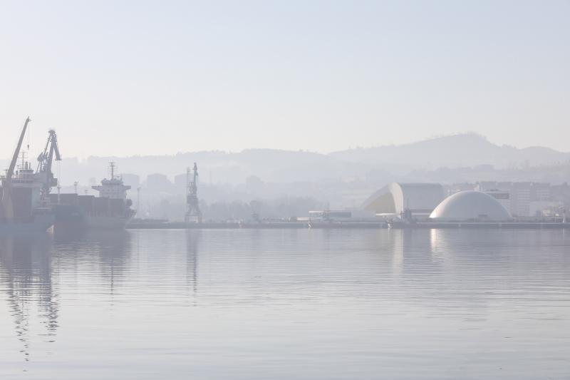 La contaminación cubre los cielos asturianos