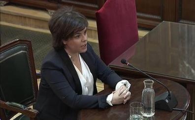 Saénz de Santamaría asegura que «nunca» trató el 1-O con Junqueras y avala la rebelión del 'procés'