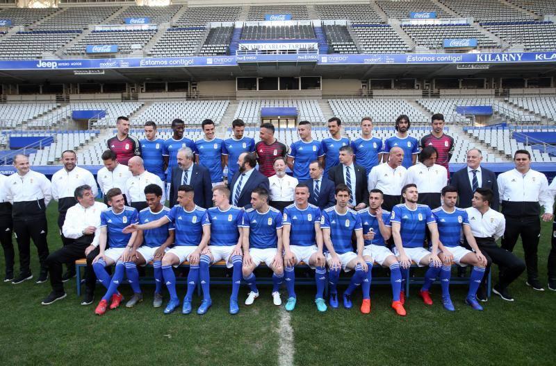 Foto oficial y entrenamiento del Real Oviedo (28/02/2019)