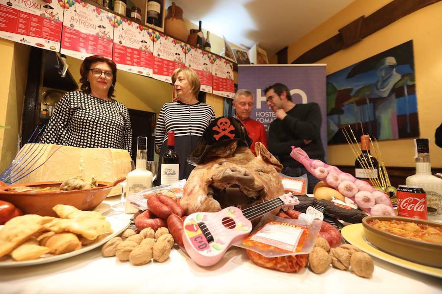Doce restaurantes servirán los menús de Antroxu el lunes y el martes
