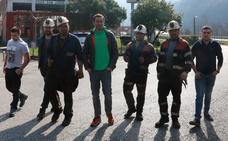 Cuatro mineros de las subcontratas de Hunosa se encierran en el pozo Santiago