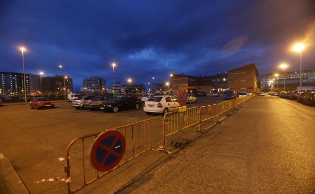 El aparcamiento del Albergue, cerrado por obras desde hoy