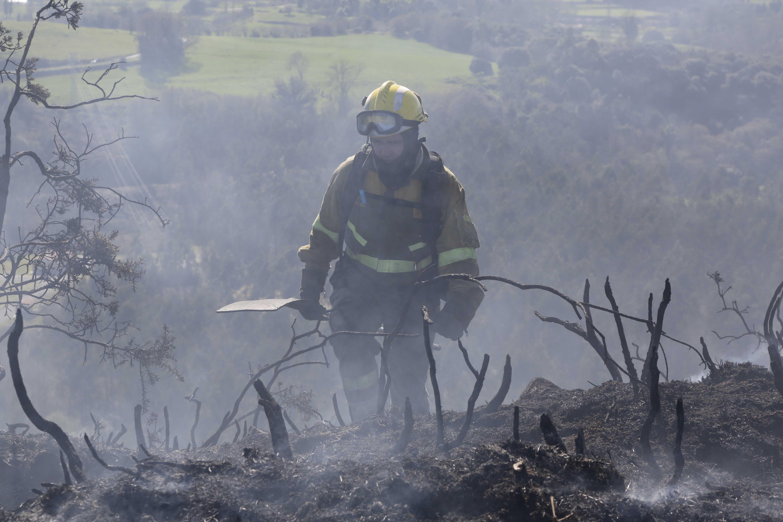 Las imágenes más impactantes de los incendios en Asturias