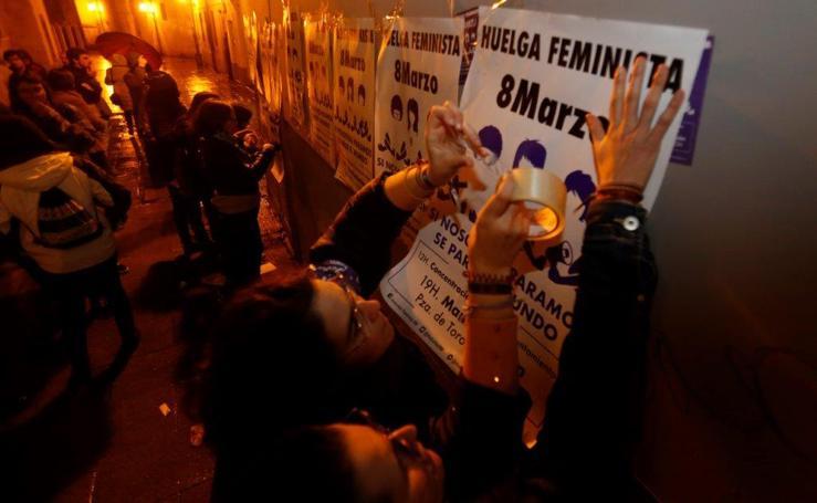 Los piquetes inician las reivindicaciones del Día de la Mujer