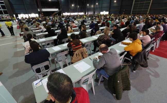 La mayor oposición acaba por reunir en Gijón a 15.268 aspirantes